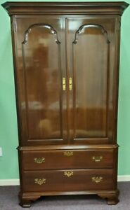 *EXCEPTIONAL*Ethan Allen Georgian Court Cherry Chippendale Armoire 11-5265 #225