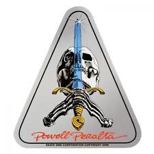 Powell Peralta-Teschio e Spada T-SKATEBOARD Sticker-Ossa Brigata