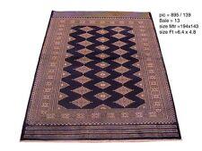 5x6 Rug sale online NAVY BLUE Oriental Silk &Wool 6x5 HANDMADE Jaldar Bokhara