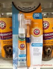 Toothbrush Toothpaste Dog Puppy set with 360 Toothbrush Fresh Spectrum