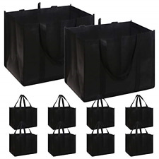Set of 10 Reusable Grocery Bags Extra Large Super Strong Heavy Duty Shopping