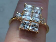 GOLD ON SILVER RING  CZ GORGEOUS