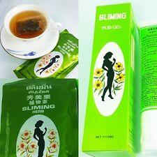 Weight Loss Burn Fat - Slimming Herbal Tea Laxative Diet x 50 Bags + 1 Rub Gel