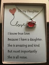 Hello kitty Pendant necklace w/ love poem for your daughter.