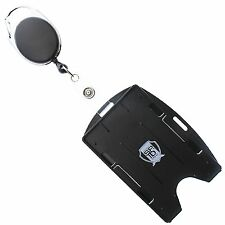 Multi Card ID Holder (Vertical or Horizontal) & Retractable Carabiner Badge Reel