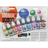 Jacquard Opaque Airbrush 9 Colour Exciter Pack - Fabrics, Paper, Vinyl, Rubber