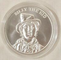 1oz Billy the Kid Silver Round Coin Outlaw Gunslinger Wild West Ledgends