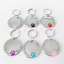 Pet Dog Puppy Cat Paw Tags ID Name Engraved Hanging Label Anti-lost Pet Supplies