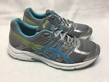 Asics Gel Contend 4 Men's Running Shoes Gray/Turqoise/Neon Green Size 9.5