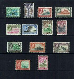British Solomon Is.: 1939, King George VI definitive set to 10/-  Mint