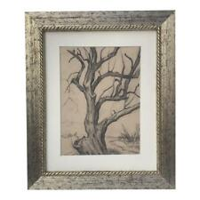 Vintage Drawing of a Tree by J. Barry Greene Listed American Artist