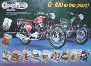 0-100 in Ten Years 1970 750 BSA Rocket III 1969 750cc Triumph Trident A2 Poster
