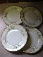 "FOUR 8"" Salad Plates - ROYAL EMBASSY CHINA **ADAMS Pattern**- Floral w/Gold"