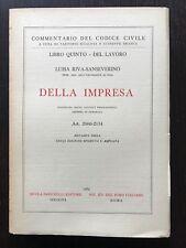 DELLA IMPRESA Art. 2060-2134 - Luisa Riva-Sanseverino (codice civile)