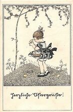 ARTIST SIGNED Postcard ART NOUVEAU c'10 MELA KOEHLER Girl Chicks