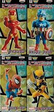 Banpresto Marvel Comic Wcf Iron Man Captain America Spider Man Wolverine