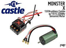 CASTLE CREATIONS MONSTER X 1:8 Brushless Combo w/1515 Sensored Motor 010014503