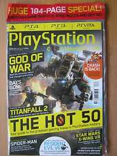 Playstation magazine August 2016 PS3 PS4 PS Vita God of War Games of E3