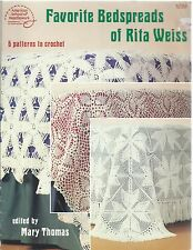 FAVORITE BEDSPREADS OF RITA WEISS 6 Patterns ~ Crochet ASN #1039 Vintage 1986