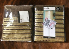 (2) Studio JCP Home Collection Textured Stripe Grommet Curtain Panel 40x95
