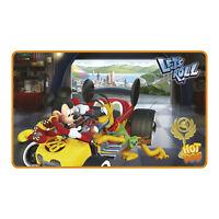 Mickey Mouse - Flinke Flitzer - hochwertiger Teppich Kinderzimmer 75x45 cm