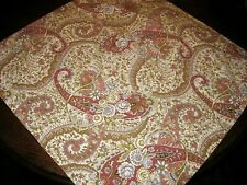 """POTTERY BARN Throw Pillow Cover EURO Size ~ 30"""" x 30"""" Paisley Floral COTTON"""