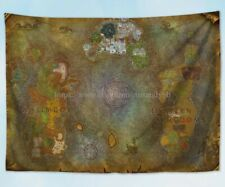 wall decor World Of Warcraft Map Wow Game Mural tapestry cloth poster