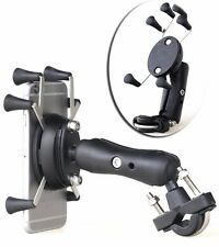 X-Shape Motorcycle Bike Mount Cellphone Holder 6 Feet 3.5-6Inch For Cell Phone