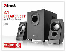TRUST 21038 ARGO 9w RMS 18w MAX ALIMENTAZIONE USB 2.1 Speaker Set, Audio Jack 3.5mm