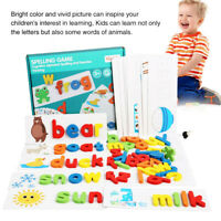 Early Education Wooden Cardboard English Spelling Toy Alphabet Game Educational