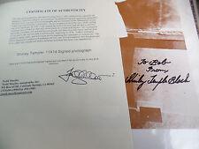 Shirley Temple signed 11x14 rigid SEPIA AUTOGRAPH auto Todd Mueller TRUSTED COA