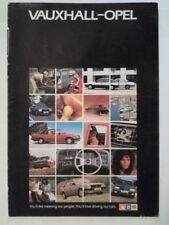 VAUXHALL OPEL CAVALIER ASTRA MANTA CHEVETTE CARLTON orig 1982 UK Mkt Brochure