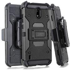 For Nokia 3.1 A / 3.1 C TA-1140 TA-1141 Tactical Clip + Hybrid Case Phone Cover