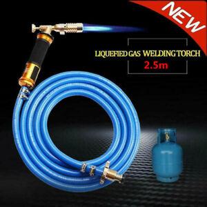 MAPP Gas Torch Hose Plumbing Turbo Burner Propane Soldering Brazing Welding+Hose