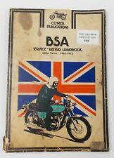 CLYMER SERVICE REPAIR HANDBOOK 1963-1972 BSA  650cc TWINS