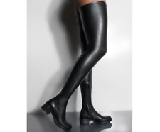 Stretch Crotch High Over Knee Flat Boots