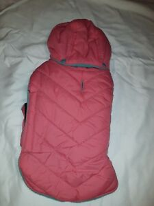 Petco Good 2 Go Pink and Teal Quilted Water Resistant Parka for Dogs
