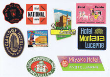 More details for job lot of 9 x 1950s hotel luggage labels