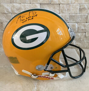 Aaron Rodgers Signed Authentic Packers Helmet With Inscriptions-Fanatics