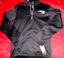 """NEW ENGLAND PATRIOTS """"MAJESTIC THERMABASE"""" QTR,ZIP GRAY SWEATSHIRT MENS SM. $70"""