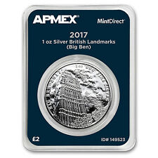 2017 1 oz Silver Landmarks of Britain Big Ben (MintDirect®)