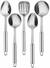 5 Piece Serving Spoons Stainless Steel Cooking Utensils Set Utopia Kitchen