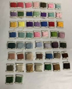 Lot of 51 Embroidery Floss Thread on Cards