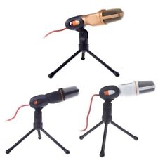 3.5mm Wired Stereo Condenser Sound Podcast Studio Microphone For PC Laptop US