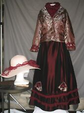 Victorian Dress Womens Edwardian Civil War Style Walking Suit 3 Piece w Hat