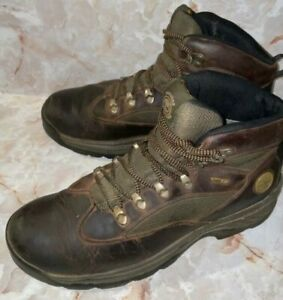 Timberland Mens Brown/Green Hiking Gore-Tex Boots Size 10.5 M