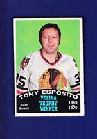 Tony Esposito Vezina HOF 1970-71 O-PEE-CHEE OPC Hockey #250 (VGEX) Blackhawks