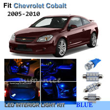 For 2005-2010 Chevrolet Cobalt Premium Blue LED Interior Lights Kit 7 Pieces