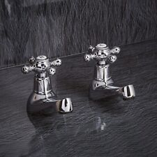 Basin and Bath taps with beautiful elegant Victorian style comes with c/d valves