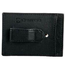 Alpine Swiss Men's Slim Money Clip Black Leather Wallet Card Holder NICE GIFT